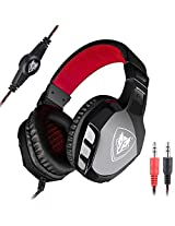 Sound Intone N 2015 New 3.5mm Over Ear Stereo Gaming Headset with In-line Wheel Control for Volume and Mic Perfect for Pc Games and Listening Music (N3000)