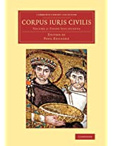 Corpus iuris civilis: Volume 2 (Cambridge Library Collection - Classics)