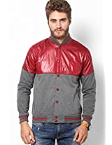 Maroon Regular Fit Quilted Jacket