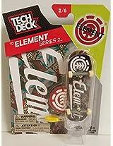 Tech Deck Td Element Series 2 2/6 2015 Fingerboard W Display Stand & Sticker #20058552