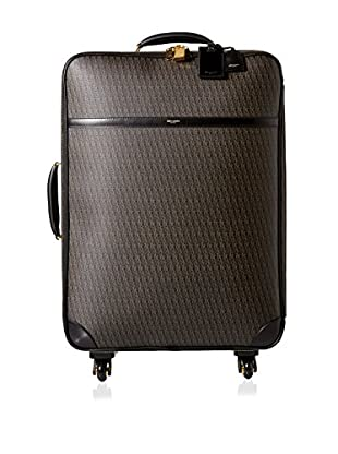 Saint-Laurent Toile Monogram Large 4-Wheel Trolley, Black
