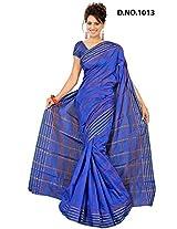 Minaxi Cotton Saree (1076 _Royal Blue)