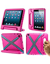 CoverBot iPad Mini Kids Case Cover with Handle Stand HOT PINK Made From Tough EVA Foam