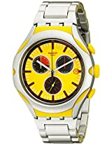 Swatch Men's YYS4002AG Irony Analog Display Swiss Quartz Silver Watch