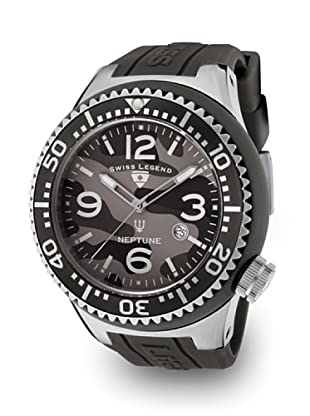Swiss Legend Reloj Cuarzo Neptuno Camuflaje negro/gris