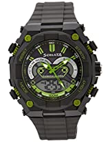 Sonata Chronograph Black Dial Men's Watch - 77030pp02