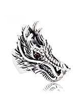 Cilver Fashion New Dragon head stainless steel rings for men (11.0)