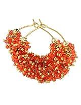 Foppish Mart Chotu Bright Orange Hoops For Women