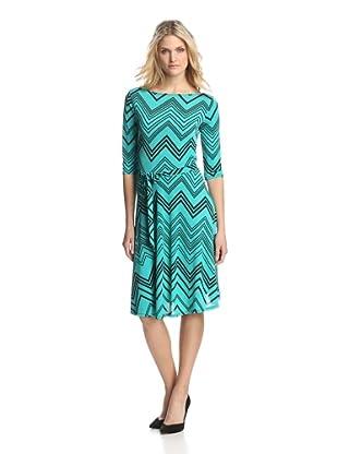 Leota Women's Ilana Dress (Teal Zigzag)