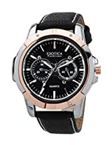 Exotica Analog Black Dial Men's Watch (EFG-05-TT-DM-B)