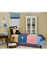 Pam Grace Creations 6 Piece Let's Play Ball Twin Bedding Set, Blue