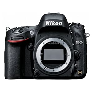 Nikon D600 DSLR Camera (Black) with Body Only, 4GB Card, Camera Bag