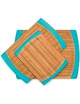 Lipper International Small Non-Slip Cutting Board with Silicone Edges, Blue