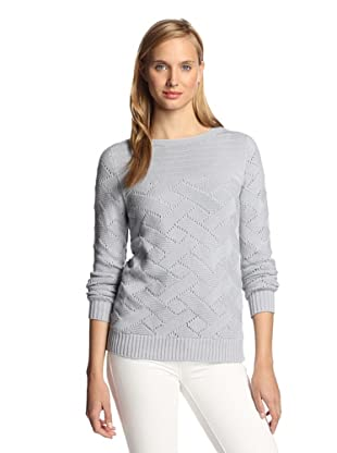 M.Patmos Women's Basketweave Boatneck Sweater (Cement)