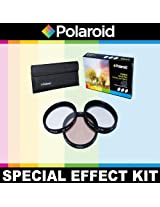 Polaroid Optics 3 Piece Special Effect Lens Filter Kit (Soft Focus, Revolving 4 Point Star, Warming) For The Canon EOS-M Mirrorless Camera Which Has The (22mm) Canon EF-M Lens