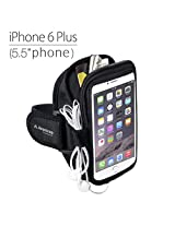 Avantree Trackpouch Sports Running / Gym / Jogging Exercise Neoprene Armband Case Pouch for iPhone 6 Plus, Samsung Galaxy Note 4/Note 3, Samsung Galaxy S5