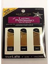 Max Factor Lasting Performance Stay Put Liquid Makeup Sampler Set for Dark Skin (Golden Mocha - Sienna-sable)