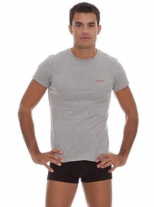 Guess Camiseta Básica (gris)
