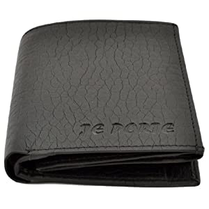 Je Porte 646 Litchi Black Wallet For Men