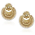 Gold Gold Plated Alloy Pearl Fashion Dangle & Drop Earring