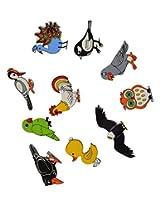 Skillofun Wooden Magnetic Cutouts - Birds, Multi Color (Set of 10)