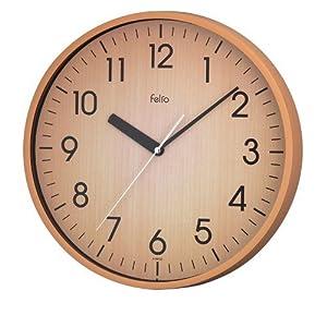 felio(フェリオ) アナログ掛け時計 ウッドソン ナチュラル FEW139 N
