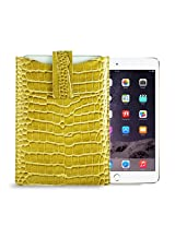 Gogappa 10 inch iPad Air Sleek Croc Embossed Rich Leather Sleeve Pouch Case Cover (Gold)