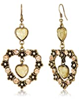 Addons Drop Earrings for Women (RVSD-EARGEN001 AT. GOLD)