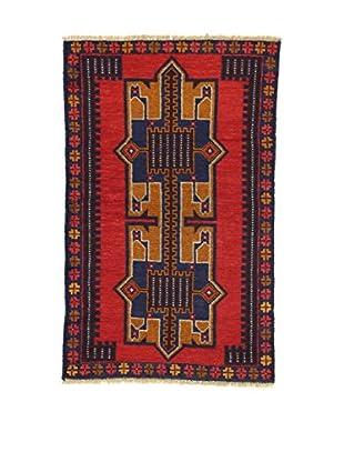 Eden Teppich Beluchistan rot/blau/gold 85 x 133 cm