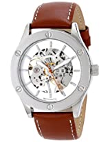 Breda Breda Unisex 5200B Analog Display Mechanical Hand Wind Brown Watch - 5200B