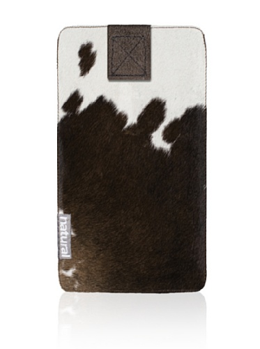 Natural iPhone Cowhide Case (Chocolate & White)