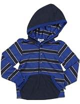 Splendid Little Boys' Heathered Stripe Henley Hood - Pier - 2T