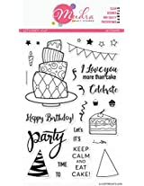 """Mudra Stamps - Let's Party - 6""""X4"""""""