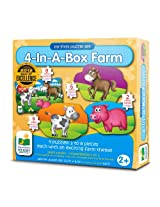 The Learning Journey My First Puzzle Sets 4-In-A-Box Puzzles, Farm