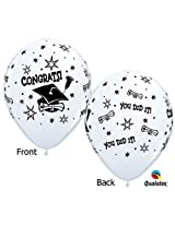 """11"""" Graduation Congrats You Did It Latex Balloons Package Of 12 By Qualatex"""