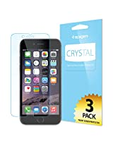 Spigen® [Full HD] iPhone 6 Plus (5.5) Screen Protector [Crystal Clear][3-PACK]**JAPANESE BASE PET FILM** High Definition (HD) Premium Ultra Clear Front Screen Protector for iPhone 6 Plus (5.5) (2014) - Crystal CR (SGP10873)