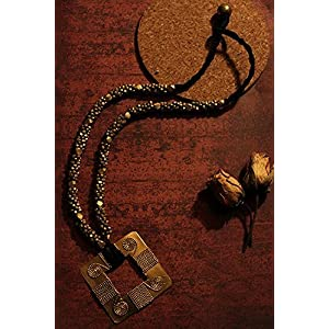 Chanchal Dokra Hand-crafted neckpiece with a beautiful Square hanging Necklace