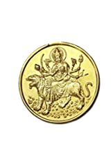 Durga Bisa Yantra Coin 10gms In Copper Gold Plated Blessed And Energised