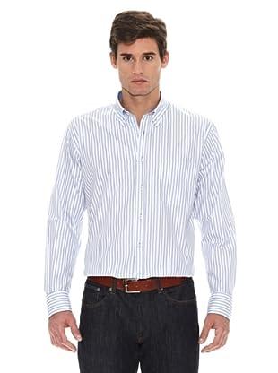 Turrau Camisa Raya Media Bicolor (Azul)