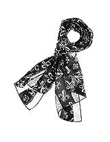 Mardi Gras Scarf Fleur De Lis (Black)