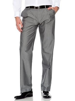 Dockers Pantalón Comfort con Pinzas Tejido Espiga (gris)