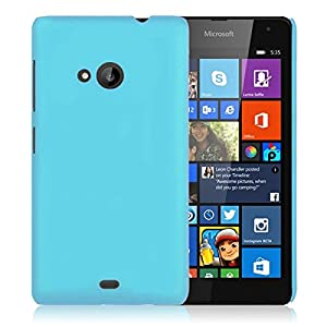 WOW Imagine Matte Rubberised Hard Case Back Cover For Nokia Lumia 535 (Sky Blue)