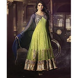 Fabfiza Priyanka Chopra Anarkali Suit - Green
