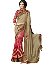 Sapphire Fashions Women's Red Net Saree