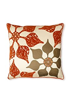 """Design Accents Floral Print, Ivory, 20"""" x 20"""""""
