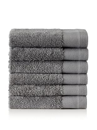 Schlossberg Set of 6 Interio Washcloths, Stone