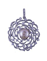Amazing Jewel White Color Silver Pendant For Women