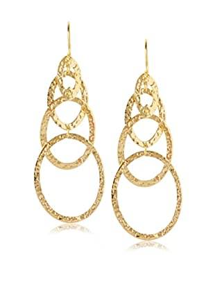 Argento Vivo Hammered Cascading Drop Earring