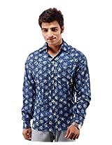 Albelishop Men's Button Front Shirt (FI004_XXL, Multi-Colour, XXL)