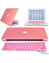 "For MacBook Pro 13-inch 13.3 Case Cover, PINK with LOGO Cut-Out Hard Shell Skin Case Cover For MacBook Pro 13-inch 13"" Case Cover!!! Get MacBook Keyboard Guard FREE"